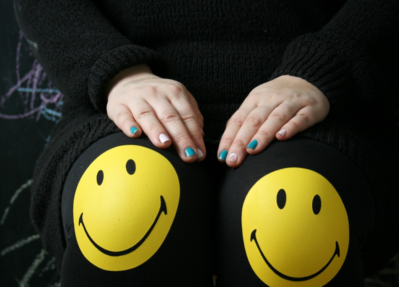maanantai smile polvet leggins smiley